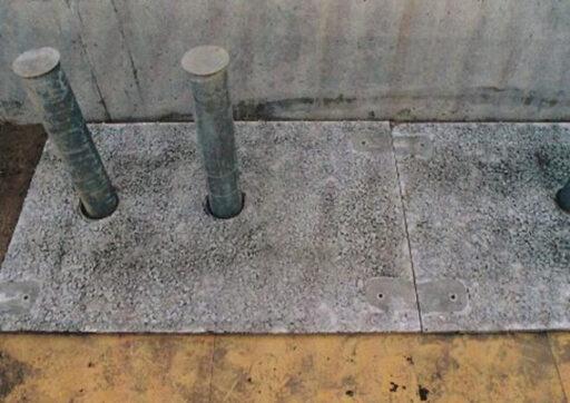 埋設型枠(PICフォーム)鋼棒ストッパー抜き穴